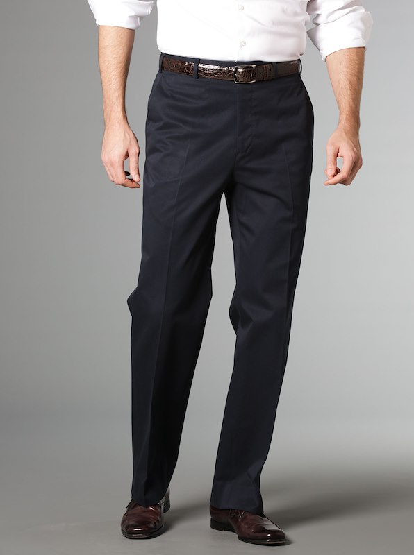 Luxury Cotton Trousers Navy