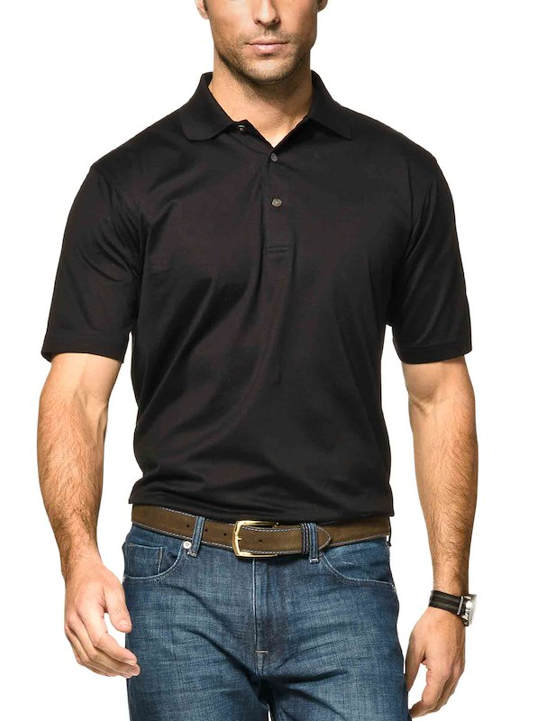 Country Club Fit - Jersey Cotton Polo - Black