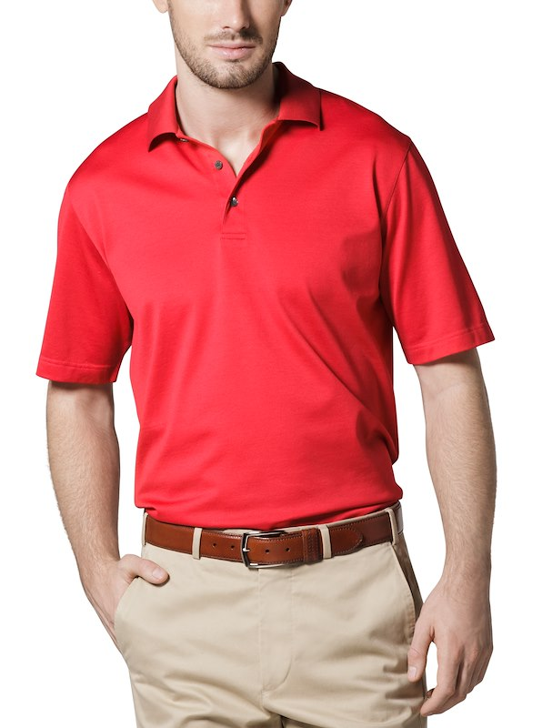 Country Club Fit - Jersey Cotton Polo - Red