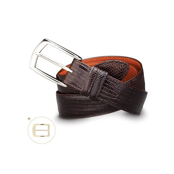 Varanus Lizard Belt - Brown