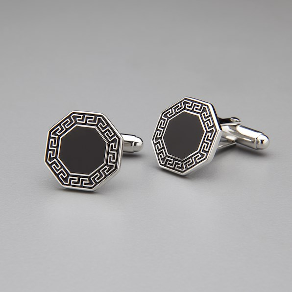 Hexagon Cufflinks - Black