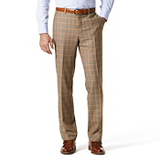 Tan Multi-Colored Check w/Orange Windowpane