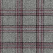 Grey with Berry Large Plaid