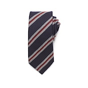 Wool Silk Stripe Tie