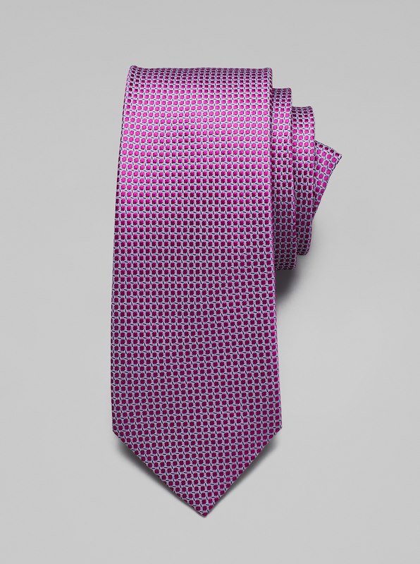 Geometric Dot Tie - Purple