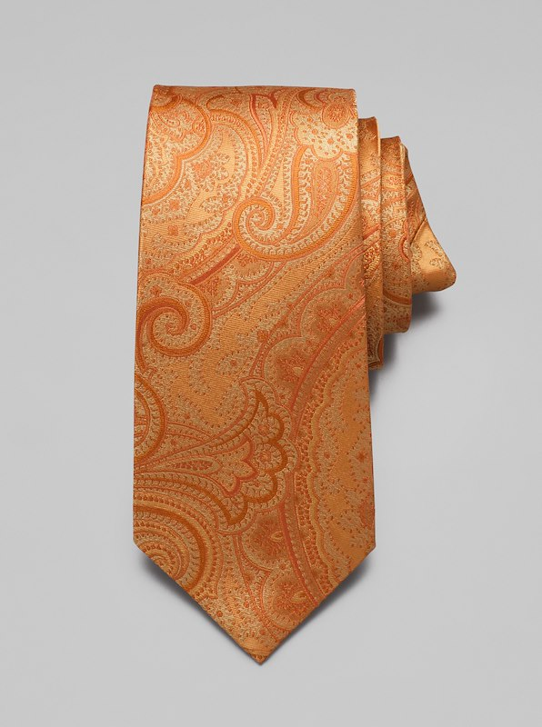 Paisley Tie - Orange