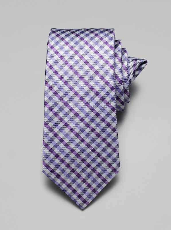 Gingham Tie - Purple