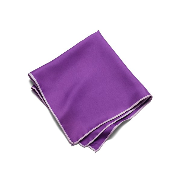 Silk Solid Pocket Square - Purple