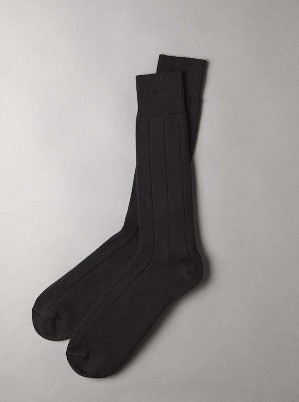 Needle Out Sport Cotton Mid Calf Socks - Black