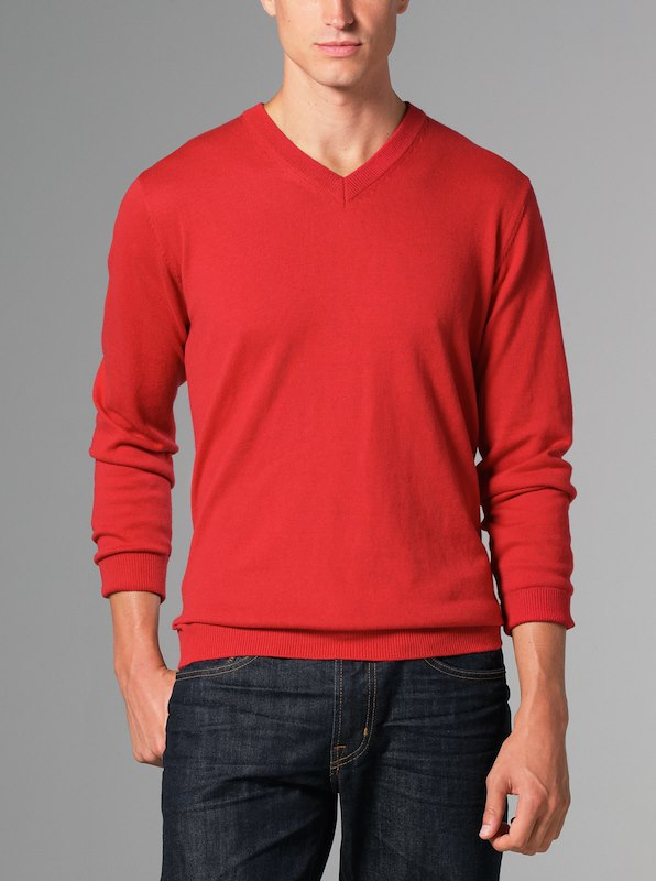 Luxury Blend Ivy V-Neck Sweater - Red