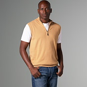 Luxury Blend Carmel Half-Zip Vest