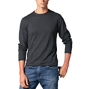 Cotton Cashmere Longsleeve Crewneck Sweater
