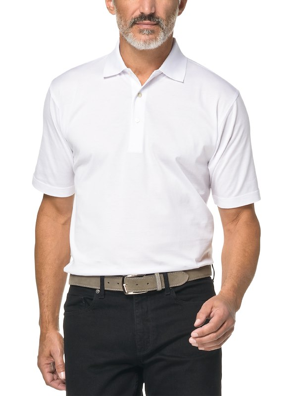 Country Club Fit - Jersey Cotton Polo - White