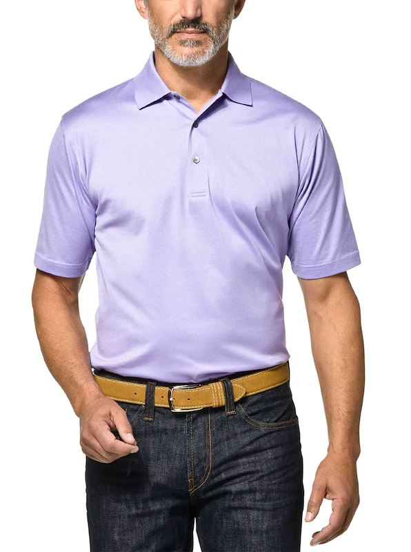 Country Club Fit - Jersey Cotton Polo - Lavender