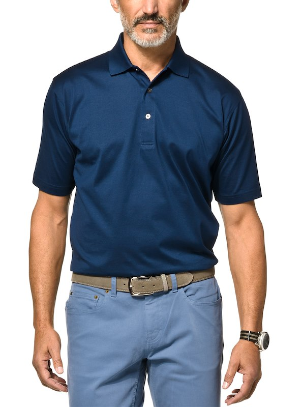 Country Club Fit - Jersey Cotton Polo - Navy