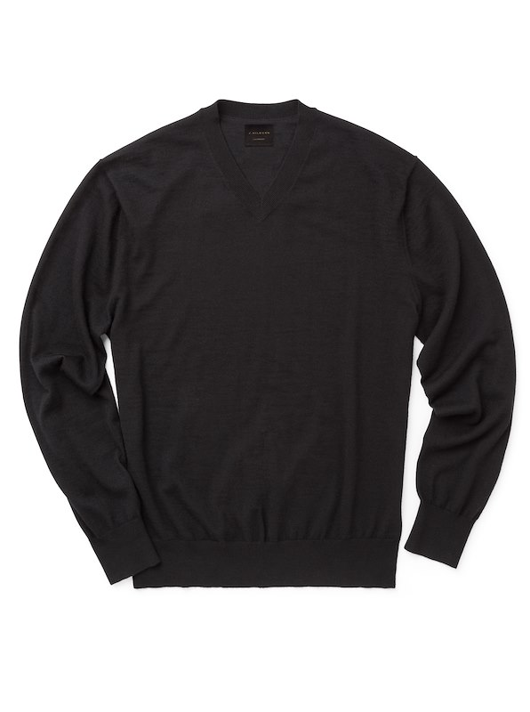 Cashmere V-Neck - Black