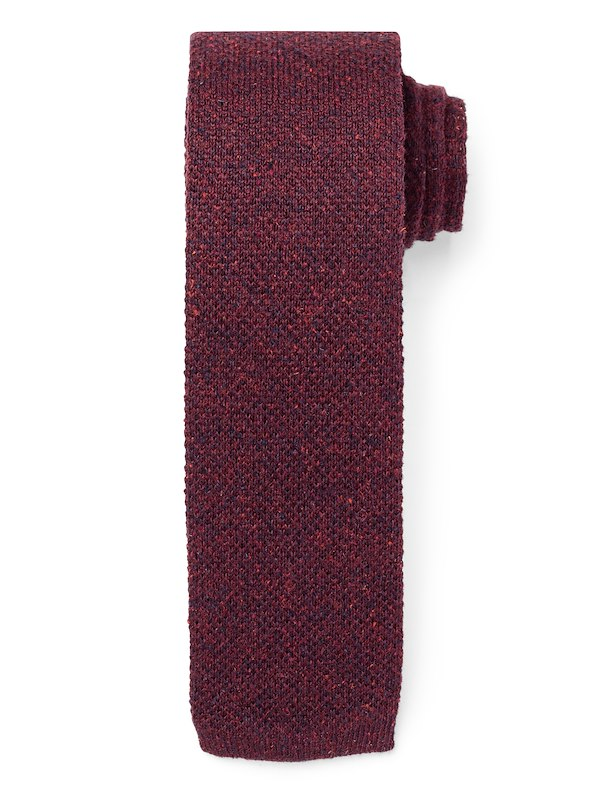 Mélange Knit Tie - Deep Berry