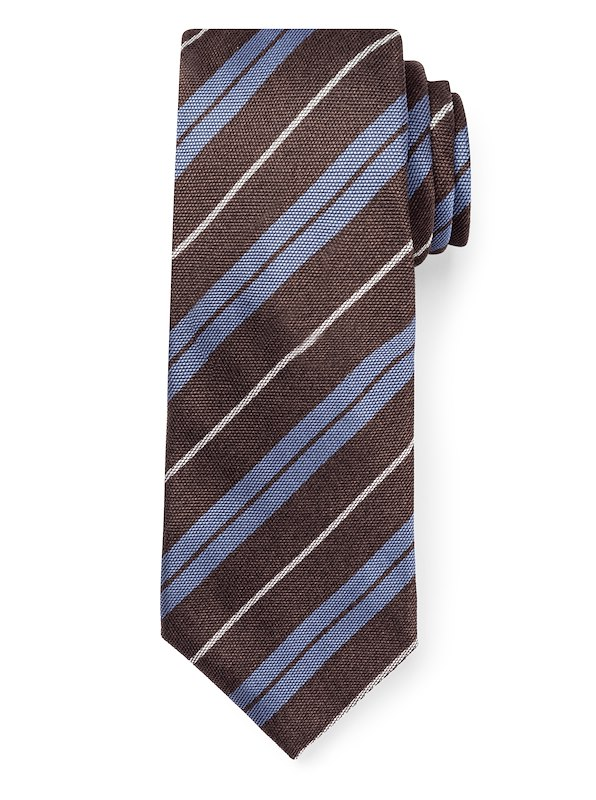 Regimneted Stripe - Brown/Blue