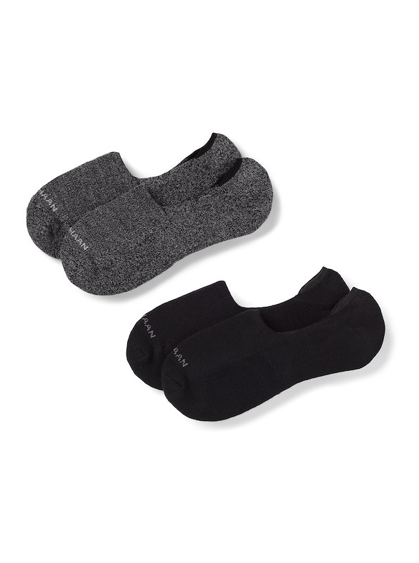 Cole Haan Casual Cushion Sock Liner - Black/Grey Heather & Black