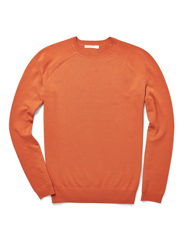 Brushed Cotton Crewneck - Amber