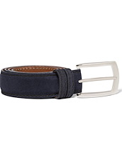 30 MM Custom Suede  Belt - Navy