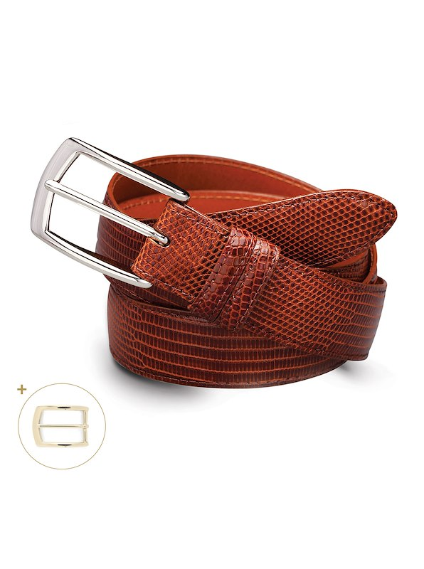 Varanus Lizard Belt - English Tan