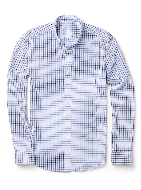 Navy/Blue Thin Check