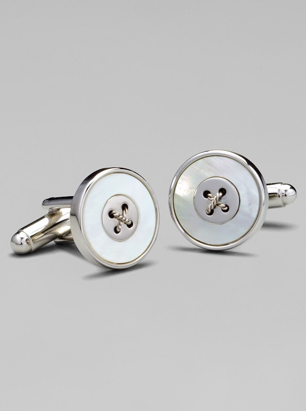 Button Cufflinks - Mother of Pearl