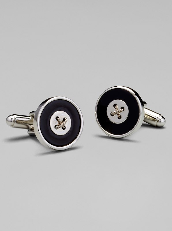 Button Cufflinks - Onyx