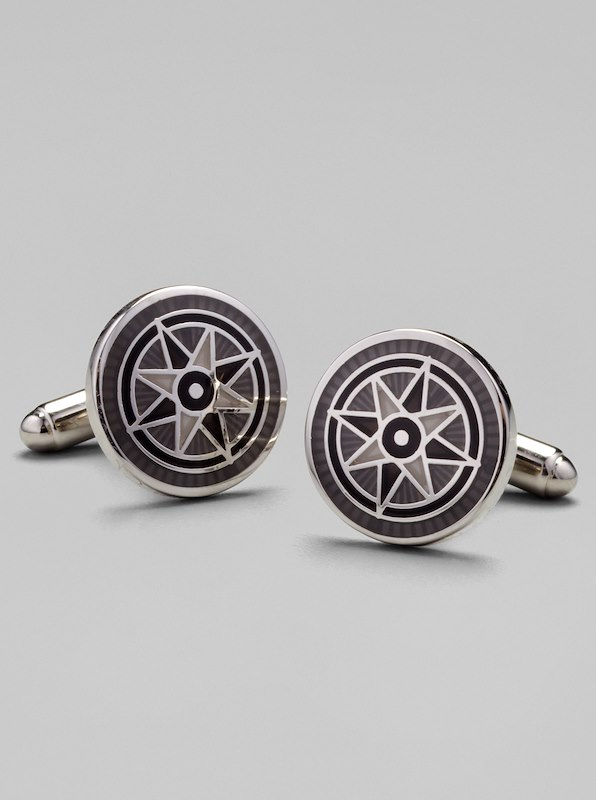 Nautical Star Cufflinks - Grey