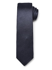Modern Textured Dot Solid Tie - Navy