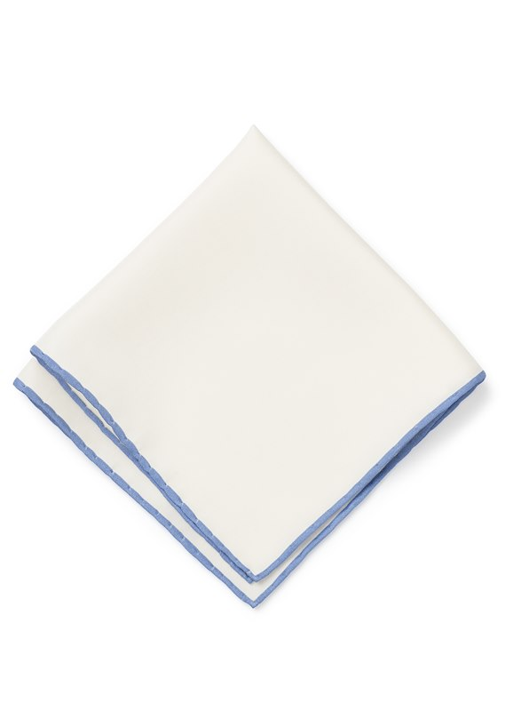 White with Tipping - Light Blue