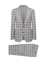 Grey Estrato Glen Plaid