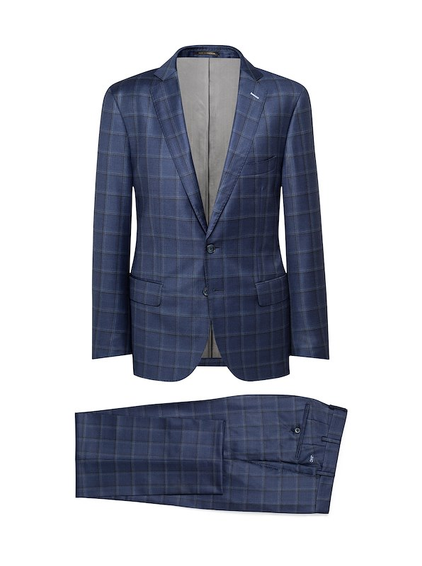 Blue Windowpane Plaid