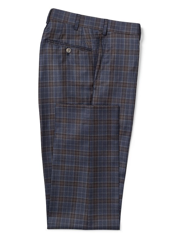 Navy w/Brown Deco Plaid