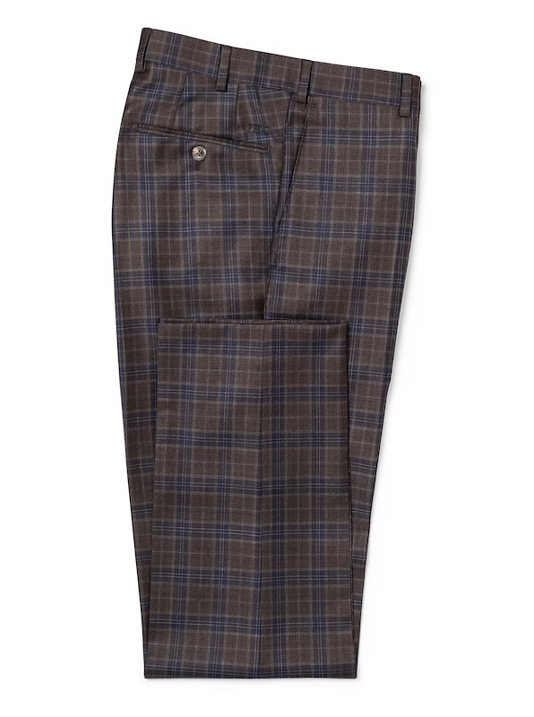 Brown w/Navy Deco Plaid