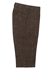 Brown Wool/Linen Solid