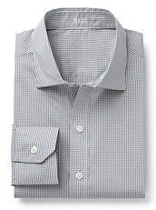 Grey and White Stretch Gingham