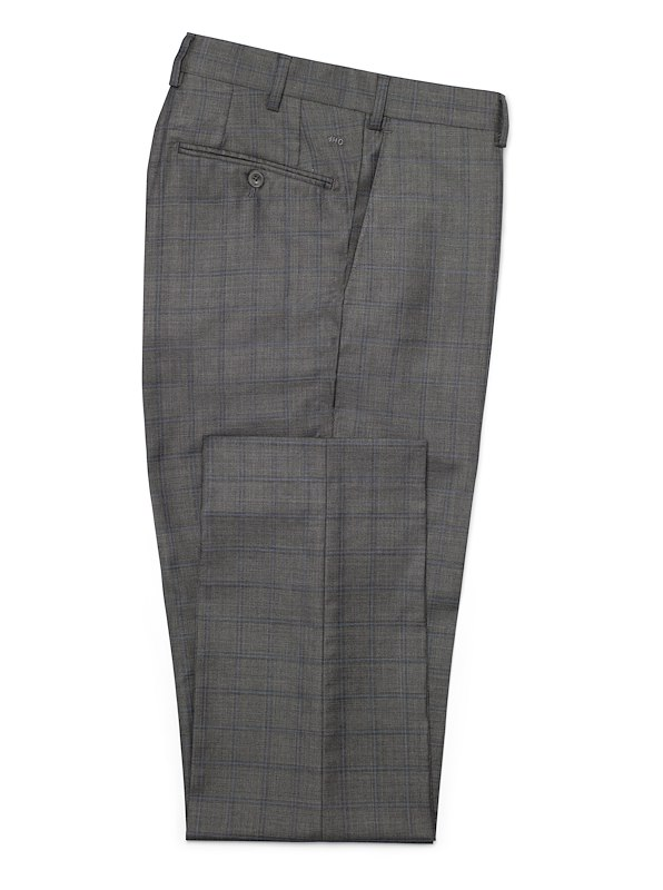 Charcoal/Blue Windowpane