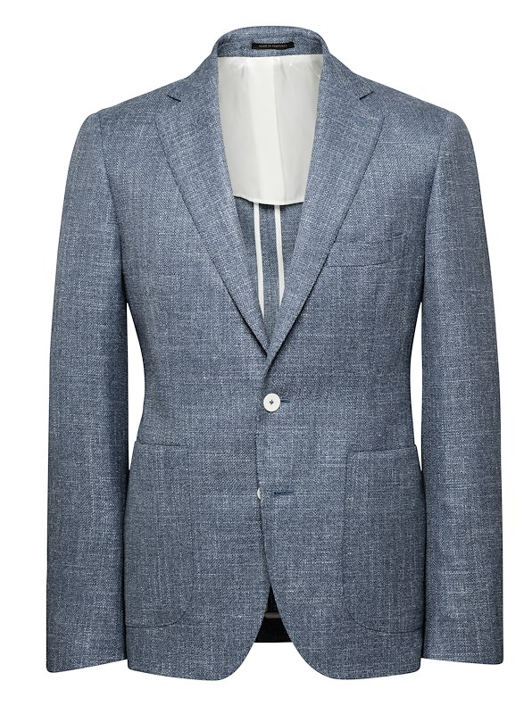 Ocean Wool/Linen/Silk Tweed