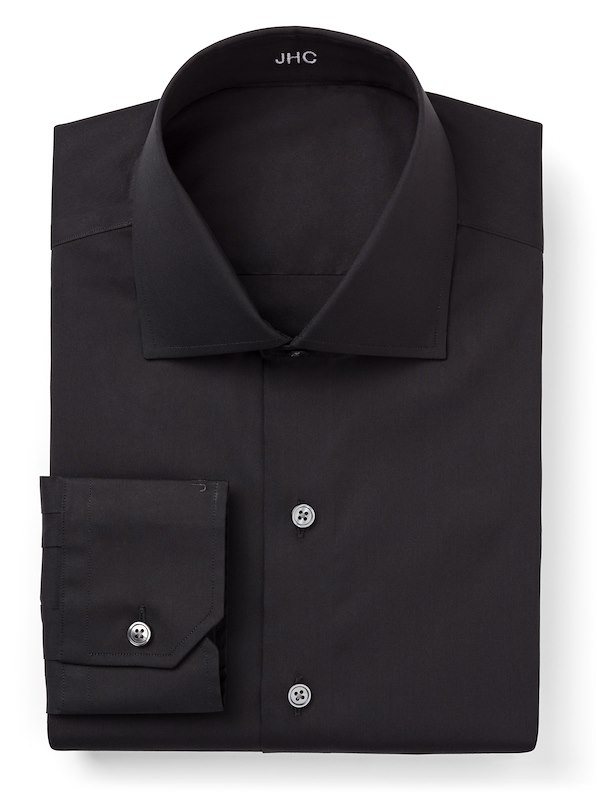 Black Stretch Poplin