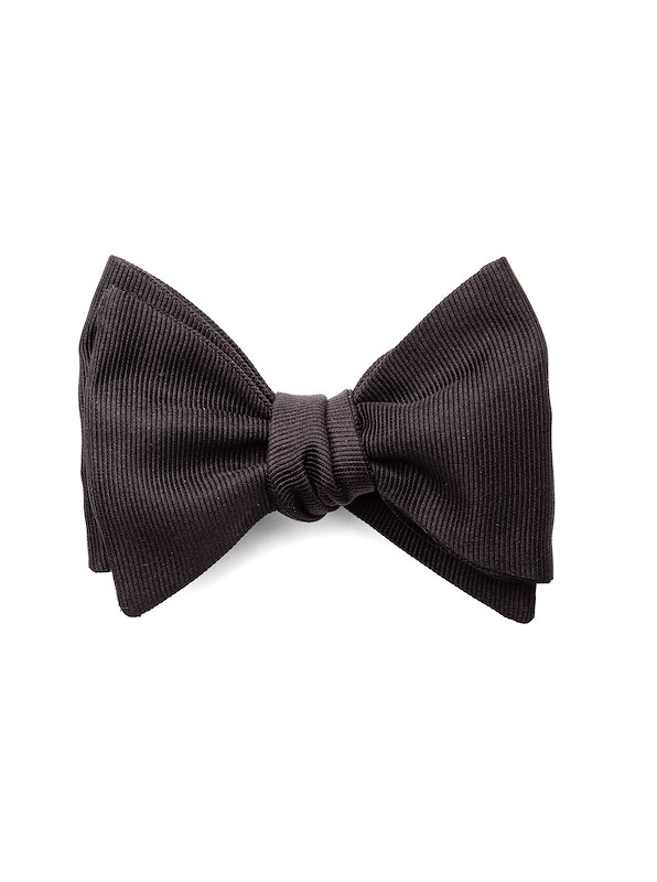Self-Tied Bowtie - Black Grosgrain