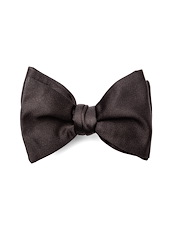 Self-Tied Bowtie - Black Satin
