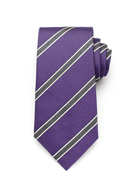 Pinpoint Stripe - Purple