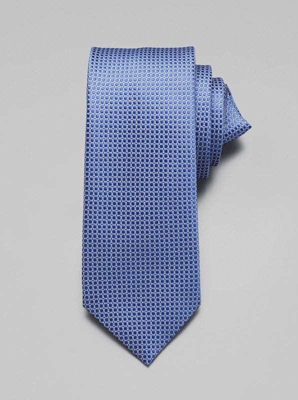 Geometric Dot Tie - Blue