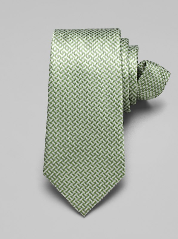 Mini Houndstooth Tie - Grass