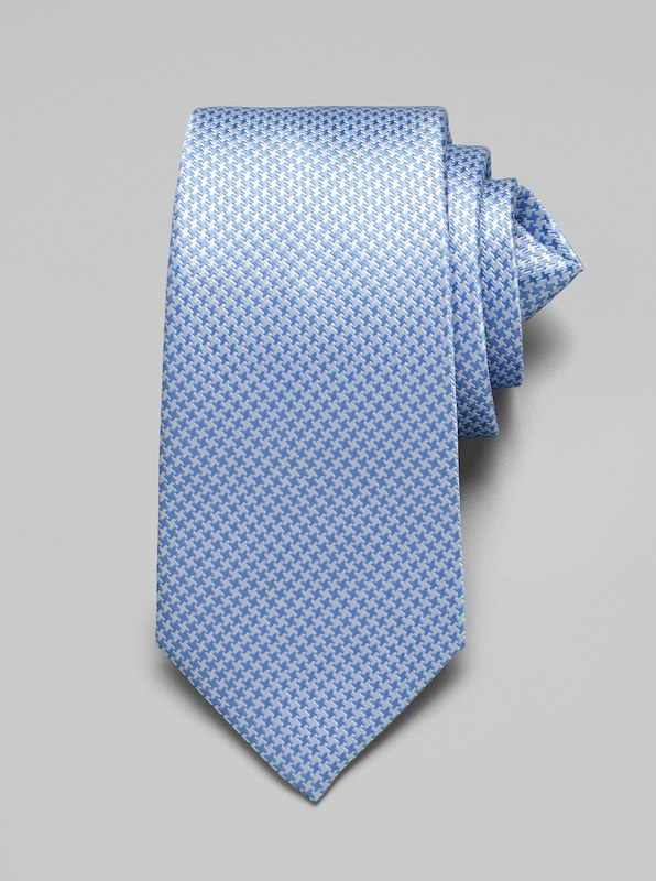 Mini Houndstooth Tie - Blue