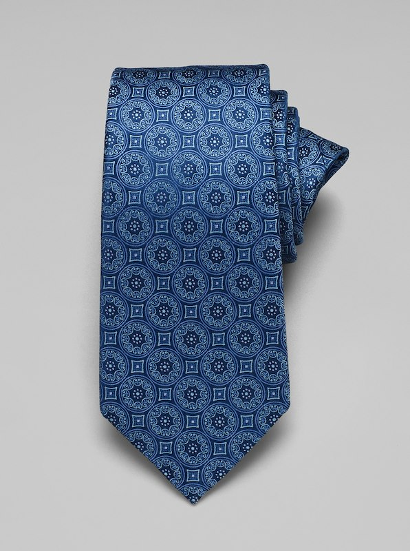 Large Medallion Tie - Blue