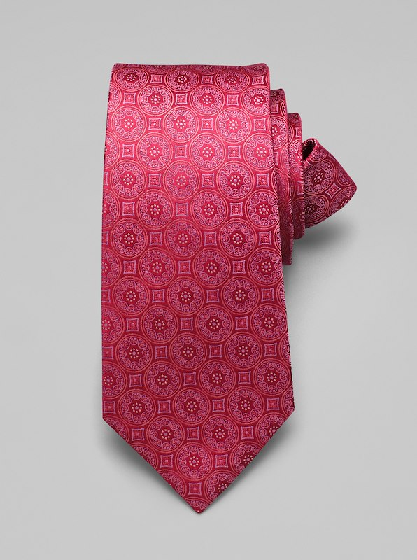 Large Medallion Tie - Berry