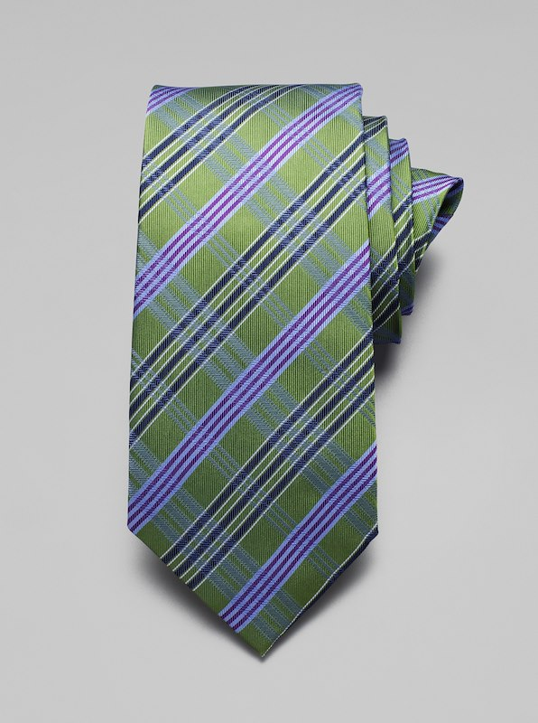 Plaid Tie - Grass